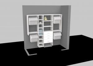 custom 3D designed walk-in closet