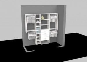 3D designed Closet Organizer
