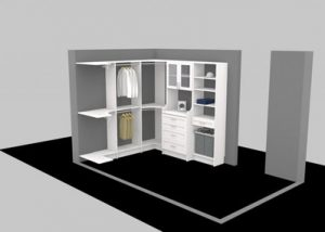 #D software designed custom closet