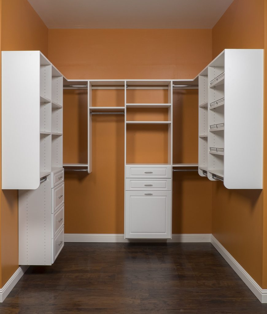 custom closet cabinetry being installed