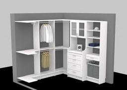 Closet organizer designed with 3D software