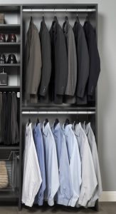 Clothing in a clothes organizer