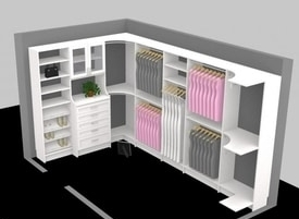 3D software designed Closet organizer