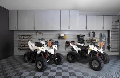 Garage with Storage Organization