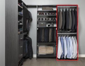 Closet Organizer section for shirts & Jackets