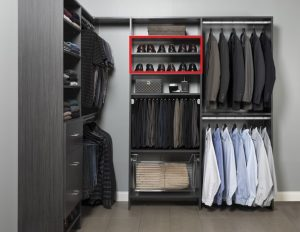 Closet Organizer section for shoes