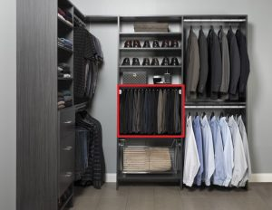 Closet Organizer section for pants