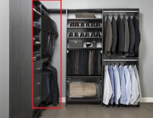 Closet Organizer section for sweaters