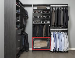 Closet Organizer section for accessories