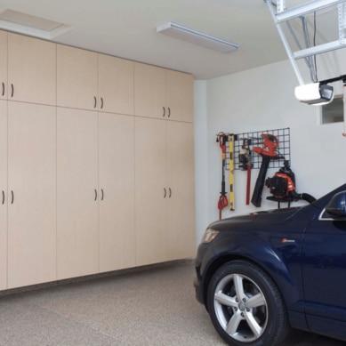garage cabinetry in a garage